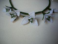 Bridal Turkish  Oya needle lace jewelry by AnatolianWedding, $55.00 Crochet Rings, Crochet Necklace, Lace Jewelry, Unique Jewelry, Needle Lace, Trending Outfits, Handmade Gifts, Embroidery, Bridal