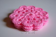 Picot - Szydełkowe Inspiracje: Różowe podkładki szydełkowe
