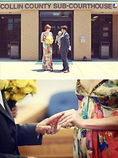 romantic courthouse wedding