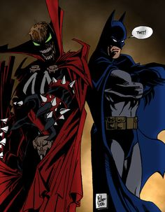 #Spawn #Comic #Fan #Art. By: Powermasterjazz.    (Spawn-vs-Batman-II)