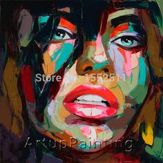 Find More Painting & Calligraphy Information about Palette knife painting portrait Palette knife Face Oil painting Impasto figure on canvas Hand painted Francoise Nielly 12,High Quality knife jokes,China painting red Suppliers, Cheap painting stencil from ArtupPainting on Aliexpress.com