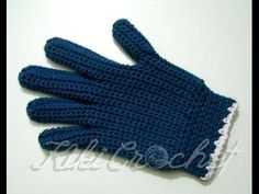 Crochet Gloves with Fingers (part1 ) - YouTube