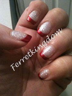 Christmas nail art 22 - I like the base coat check out www.MyNailPolishObsession.com for more nail art ideas.