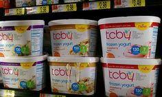 This month, TCBY announced a new line of pre-packaged frozen yogurt quarts, pints, and novelties to be sold nationwide at stores like Walmart and Super Target.    TCBYGrocery Quarts come in four flavors: Supreme Cookies & Cream, English Toffee Crunch, Strawberry Swirl, and Classic Vanilla Bean. TCBYGrocery Pints come in six flavors: Strawberry Swirl, Chocolate Chocolate, Mint Chocolate Chunk, Supreme Cookies & Cream, Tropical Mango Peach, and Cookie Dough. -theimpulsivebuy.com 3/27/12