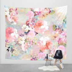 Love of a Flower Wall Tapestry by Girly Trend | Society6