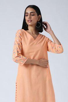 Mirror Work, Work Blouse, Indian Sarees, Kurtis, Hand Embroidery, Designer Dresses, Salmon, Cold Shoulder Dress, Hands