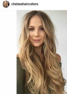 Blond waves. Long Hair.