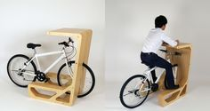 How great would it be set up a group of these in a conference room? Then meeting participants could exercise while doing business.