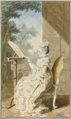 Mme la barone de Talleyrand, 1765 by Louis Caroggis Carmontelle (1717-1806)