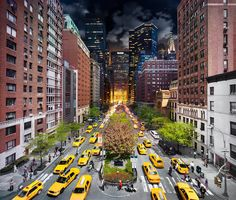 Park Avenue – Day and Night. Photo by Stephen Wilkes