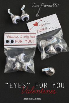 "I only have ""EYES"" for YOU - Easy Valentine Idea"