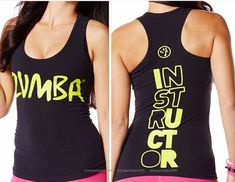 ZUMBA INSTRUCTOR Rock With Me RacerBack Top Shirt Tank Tee -fr.Convention RARE! #ZUMBAZUMBAFITNESS #RacerbackTopShirtTeeTank