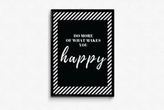 What Makes You Happy, Are You Happy, A3, Letter Board, Posters, Lettering, Make It Yourself, Etsy, Poster