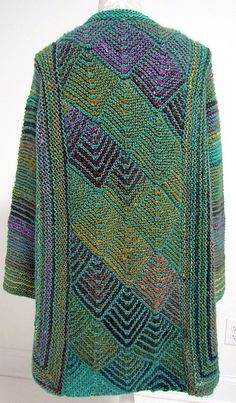 Ravelry: Fibermania's Diamond Panel Jacket