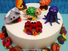 Sea Creature Cake Decorations