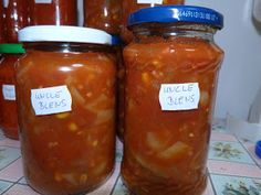 Vica: Uncle ben's szósz Salsa, Vegan, Canning, Food, Red Peppers, Essen, Salsa Music, Meals, Home Canning