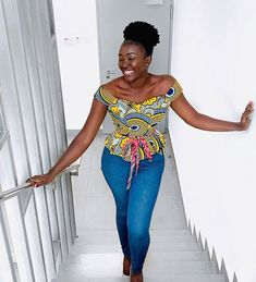 Ankara Top Available in different fabric Pric Ankara Short Gown Styles, Short Gowns, African Fashion Ankara, African Dress, African Style, Ankara Tops Blouses, Ankara Skirt And Blouse, Different Fabrics, Fashion Prints