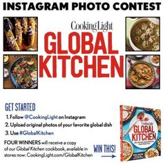 LAST DAY: Enter our Instagram contest for the chance to win a free cookbook. Upload your favorite global dish on Instagram and tag it