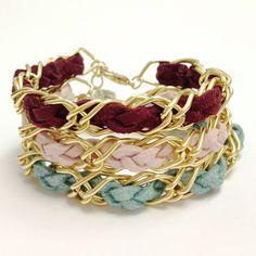 ELLA - single wrap gold chain and faux suede bracelet. $10.00, via Etsy.