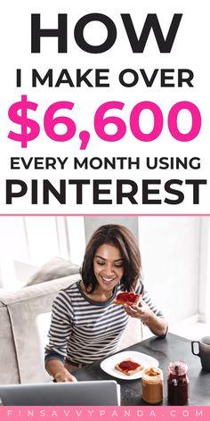 Earn Extra Money Online, Earn Money Fast, Ways To Earn Money, Earn Money From Home, Make Money Blogging, Way To Make Money, How Make Money Online, Earn Extra Income, Make Money From Pinterest