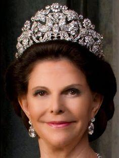 Empress Amélie of Brazil's Braganza Tiara -- Queen Silvia