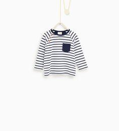 Basic striped top-T-SHIRTS-Baby boy-Baby   3 months - 3 years-KIDS   ZARA United States