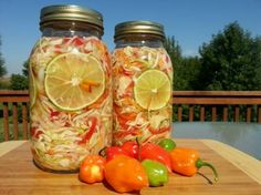 Pikliz - Haitian spicy pickled vegetables ~ Every Haitian home has a jar of pikliz on hand. Cabbage, carrots, chiles and other vegetables are soaked in vinegar to make a relish similar to American chow-chow or Italian giardiniera. The crunchy salad is served as a side dish at Haitian meals. Flavored vinegar from pikliz is often used in marinades or to give dishes a spicy-sour punch.
