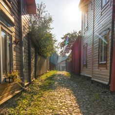 The cobblestone streets of Porvoo, Finland. Finland, Denmark, Norway, Netherlands, Places To Go, Europe, Spaces, Street, Instagram Posts