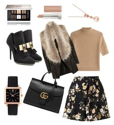 """""""Glamorous Gal"""" by beautybonanz on Polyvore featuring Larsson & Jennings, Miss Selfridge, Theory, River Island, Balmain, Gucci, Givenchy, Maybelline and LE VIAN"""
