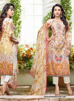Classy Karishma Kapoor Multicolor Chiffon Designer Suit