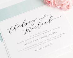 Dramatic Romance Wedding Invitations - Wedding Invitations by Shine