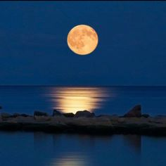 Nothing more beautiful than a full moon over water.