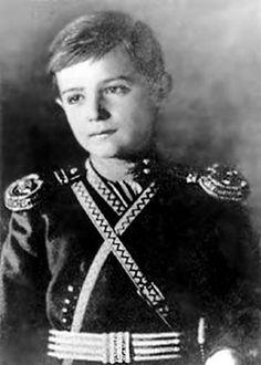 Alexei Nikolaevich Romanov (1904-1918) Russia the only son of the last Russian Tzar Nicholas II (Nikolay Alexandrovich Romanov) (1868-1918) Russia & wife Tsarina Alexandra Feodorovna (1872-1918) Hesse.