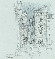 Florence Drawings Artist Study Chema Pastrana Fine Art Architectural Painting