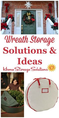 Ideas and tips for wreath storage that keep Christmas and other seasonal wreaths clean, dust free, and from warping or getting smashed while in storage on Home Storage Solutions 101 Holiday Storage, Christmas Storage, Christmas Holidays, Christmas Treats, Home Organization Hacks, Organizing Your Home, Garage Organization, Organizing Tips, Craft Projects For Kids