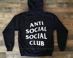 Anti Social Club Hoodie In Black ASSC Kanye West Mind Games Gildan