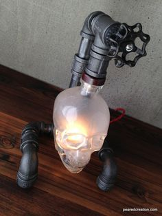 Skull Wall Sconce Crystal Head Vodka by MoonshineLamp on Etsy ...