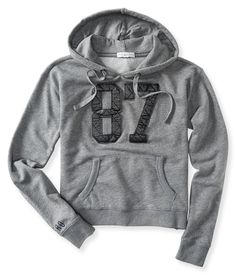 Aeropostale 87 Crop Popover Hoodie Found on my new favorite app Dote Shopping #DoteApp #Shopping