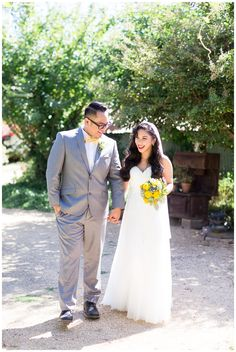 Bride and Groom Portrait Holding hands | Taber Ranch Wedding - Capay Wedding Photographer - Ricky&Anjelica - Chico California Wedding Photography and Videography by Chico Photographer Videographer Couple TréCreative