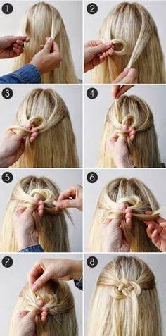 hairstyle, easy bun