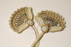 Crochet patterns, crochet motifs, Irish crochet patterns, Irish crochet video tutorials, learn how to crochet Irish crochet lace.