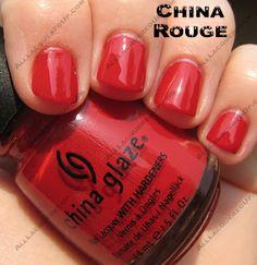 China glaze china rouge, callin Baton Rouge :)