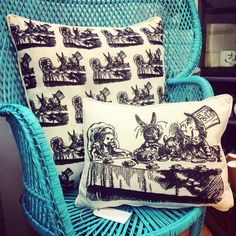 Alice In Wonderland Cushion - The Mad Hatters Tea Party