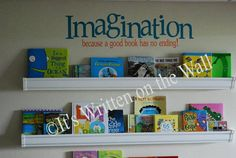 6x225 Imagination because a good book has by ItsWrittenOnTheWall, $19.99