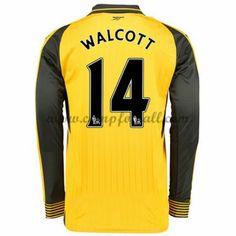 Arsenal Fotballdrakter 2016-17 Walcott 14 Bortedrakt Langermet