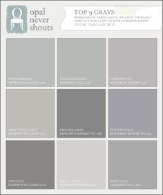 If you are searching for the perfect gray this blog post shows you the range of grays.