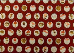 """Japanese Kawaii Mushroom  50cm  or 19"""" length by 110cm or 42"""" wideth in Red"""