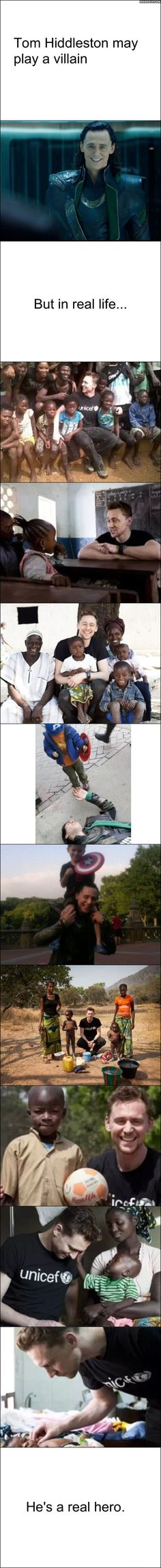 Movie villain is a real hero. I just love this.