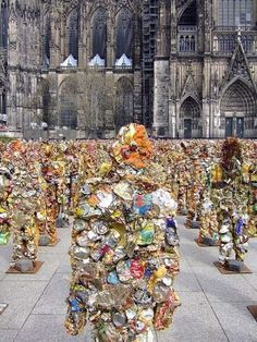 """Since HA Schult has installed one thousand life sized """"Trash People"""" made . - Since HA Schult has installed one thousand life sized """"Trash People"""" made from garbage as - # Trash Art, Pyramids Of Giza, Plastic Art, Sea And Ocean, Environmental Art, Weird And Wonderful, Recycled Art, Public Art, Artist Art"""