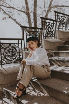 Emma and I shot a few Paris-inspired looks around Salt Lake City, but pretended to be in France.
